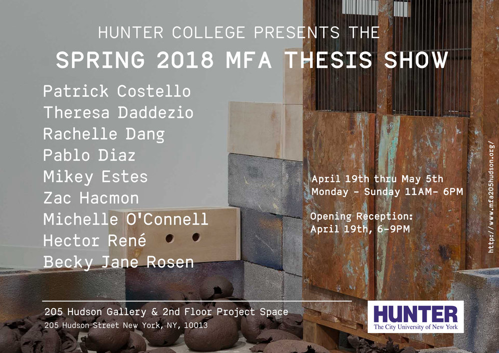 Hunter MFA Thesis Part I