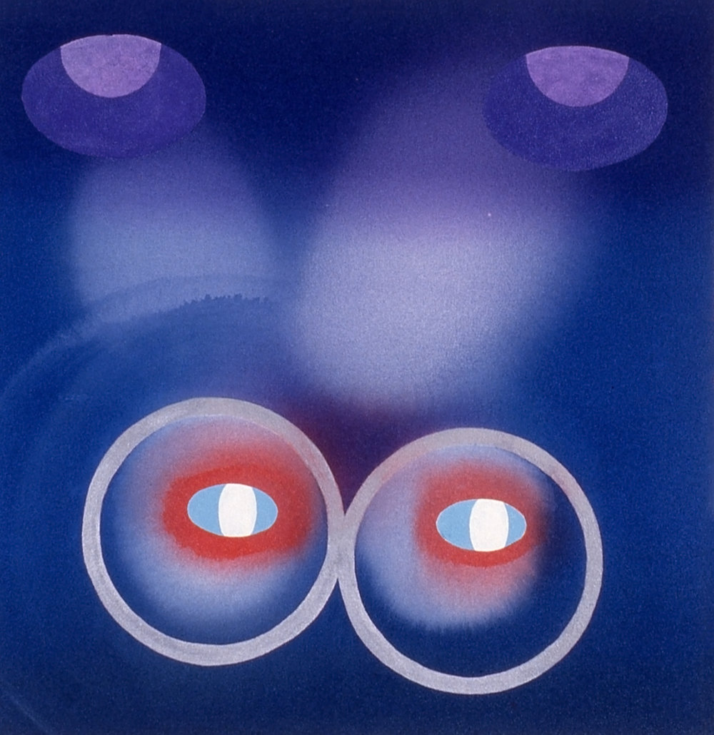 Stephen Mueller  Untitled (Chi Stories) , 1995 Acrylic on canvas 28 × 28 inches Courtesy of Lennon, Weinberg, Inc., New York and Texas Gallery, Houston