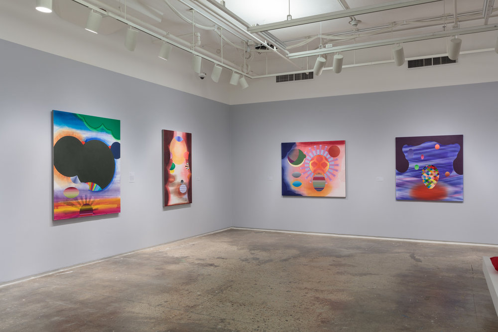 Installation view:  Stephen Mueller: Orchidaceous , Hunter College Art Galleries, 2018. Photo by Stan Narten.