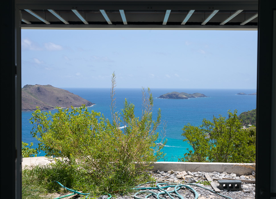Just add A LIITLE IMAGINATION (AND GARDEN SERVICE) - VIEW FROM THE BEDROOMs, LIVING ROOM AND FULL-LENGTH TERRACE: Chevreau (BONHOMME), FRÉGATE & TOC VERS ISLANDS. THESE UNINHABITED ISLANDS ARE WITHIN A PROTECTED MARINE RESERVE (Réserve naturelle nationale de Saint-Barthélemy). HERE THE CARIBBEAN SEA MEETS THE OPEN ATLANTIC. OUANALAO IS PERCHED ABOVE LAND'S END. BEYOND THIS POINT, THE NEXT land IS NORTHEAST ACROSS THE ATLANTIC - WEST AFRICA and the Western Sahara.  LEAVE YOUR CARES BEHIND AT OUANALAO ...