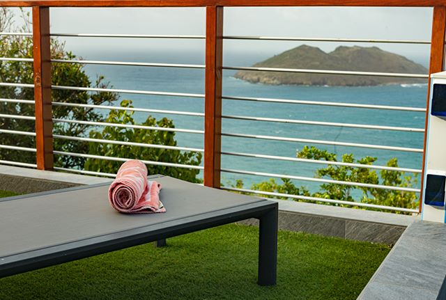 Visualize: Just part of your sundeck view from Villa Ouanalao. Dual decks at each end of the 23ft (7m) swimming pool maximize your enjoyment of both morning and afternoon sun. Escape your cares where reality stops as you look out over the endless Atlantic view.