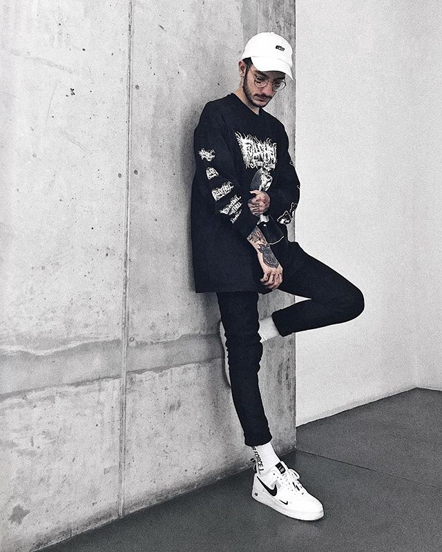 """@antix_headwear Dadhat @fullofhell Longsleeve @representclo Essential Denim #airforce1 Socks  @nike Air Force 1 """"07 LV8 Utility"""" — Picture: @beccabadaparte . — Dadhat form @skatedeluxe_skateshop . Socks are a gift from @pia_rue_ . Sneakers from @qairstore . — #antix #antixheadwear #fullofhell #fullofhellband #representclo #representtalk #airforce1 #nike #airforceutility"""
