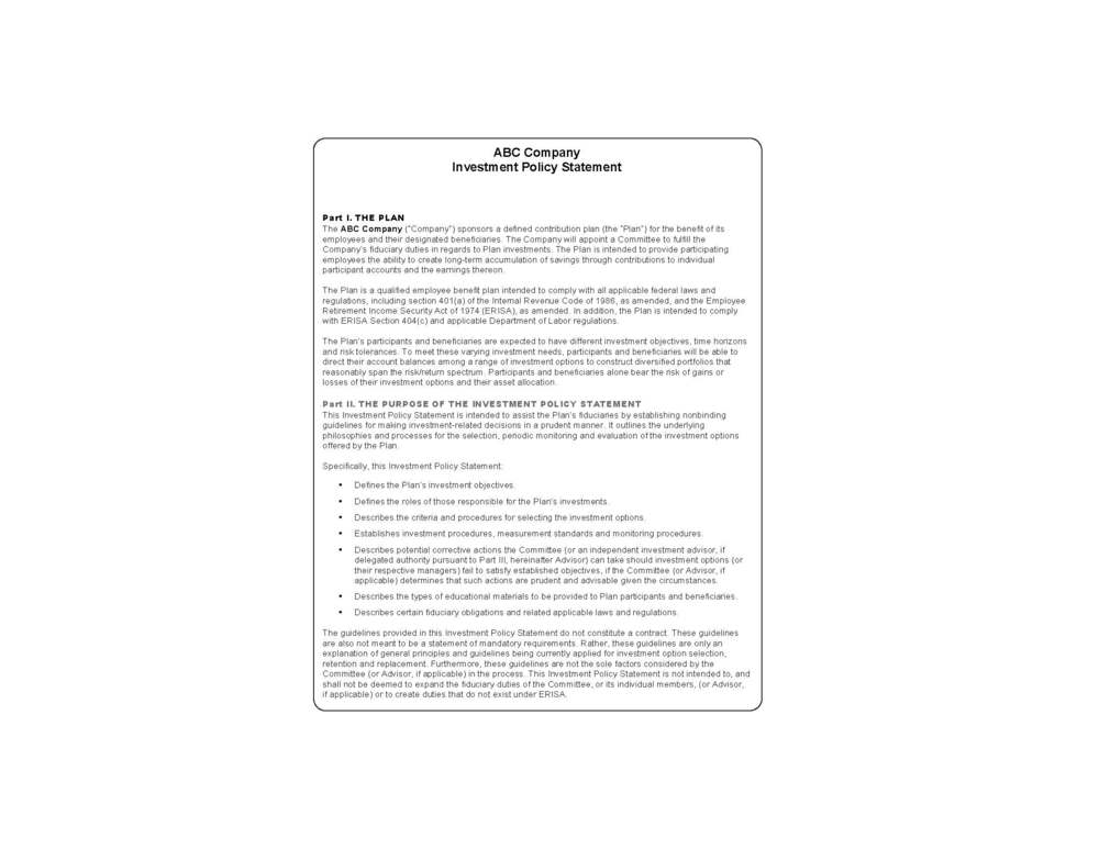 Fiduciary Compliance — Rcg