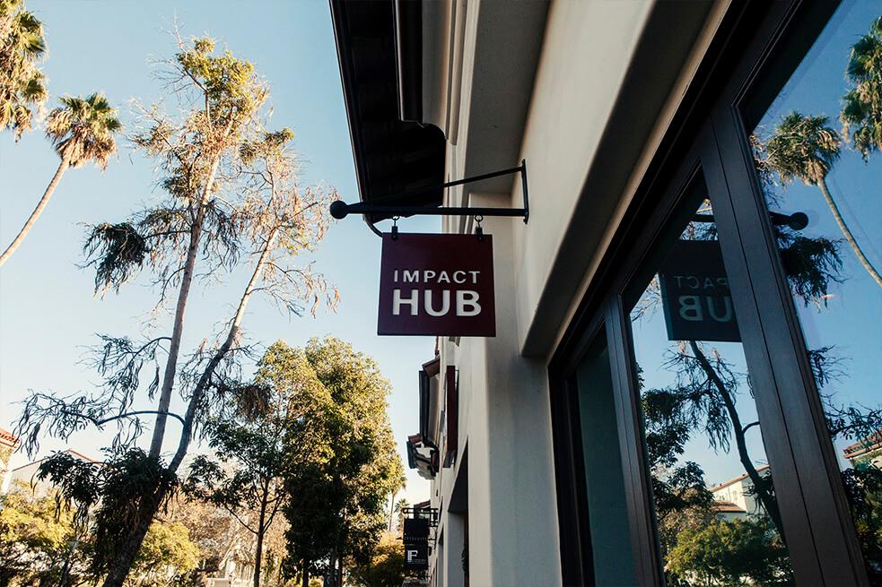 sign of impact hub on state street in santa barbara california.jpg