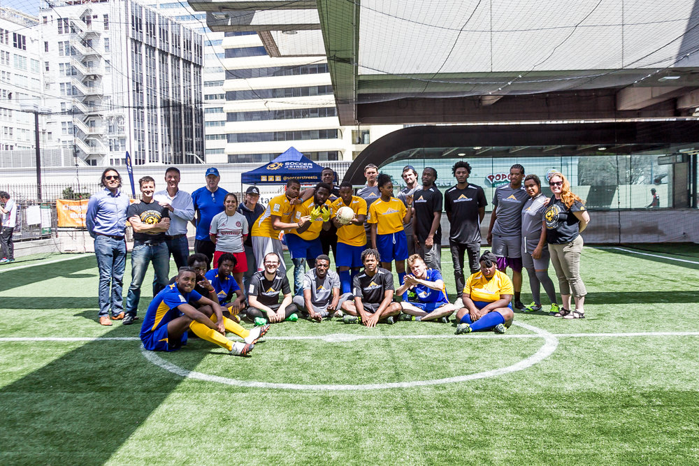 The tournament, played at Station Soccer in MARTA Five Points, was hosted by 'The Aspire Group' in partnership with 'Soccer in the Streets'