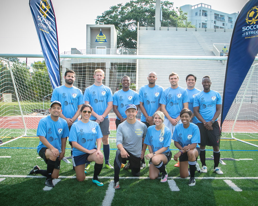 Team AT&T - which was organized by FACES Employee Resource Group - earned top honors on the pitch.