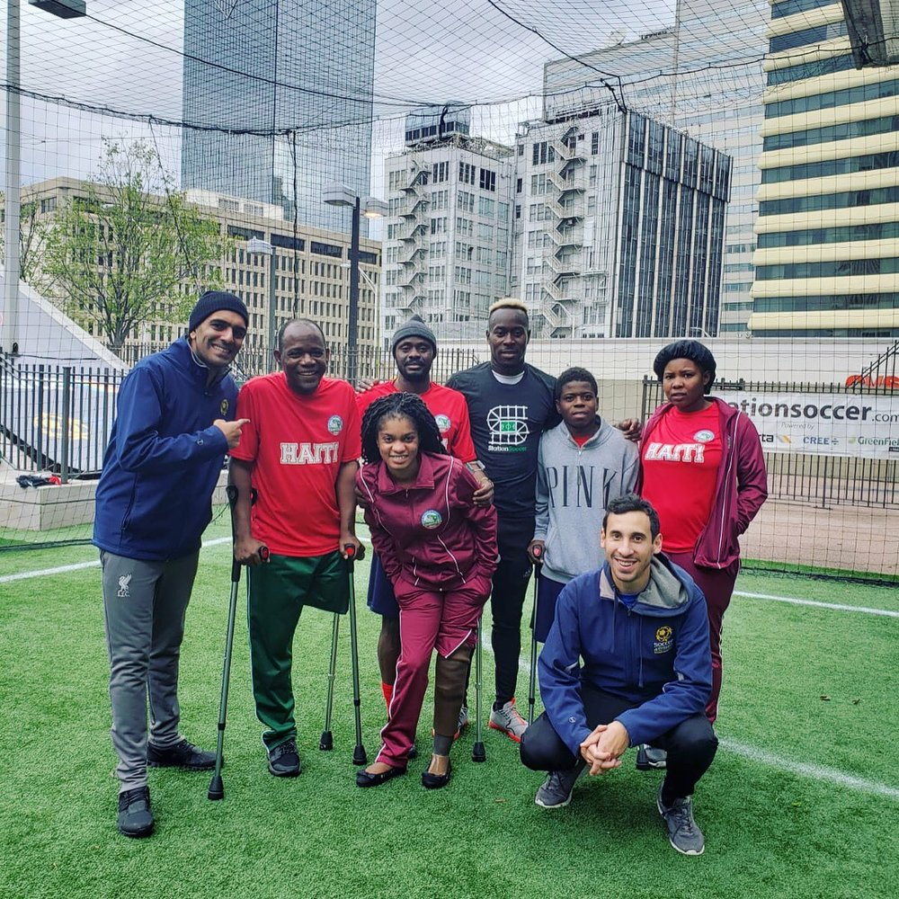 Haitian Team playing at StationSoccer- Five Points in Atlanta, GA
