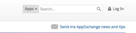 Log In button on AppExchange page