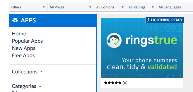 Finding the listing in AppExchange