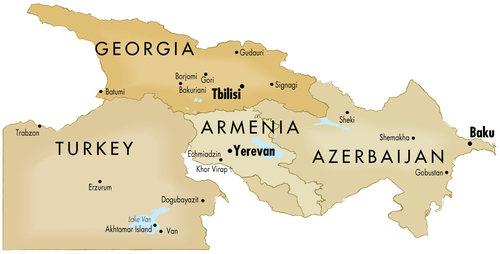The South Caucasus MIR Destination Management Company - Yerevan georgia map