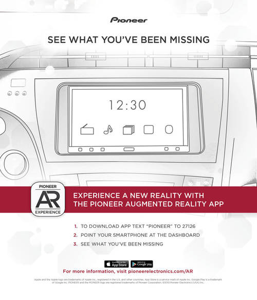 PIONEER AR AD WITH DIGITAL APP TRIGGER