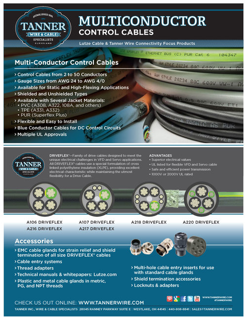 Products — Tanner Inc., Wire & Cable Specialists