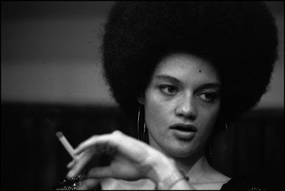 The wife of Eldridge Cleaver, Kathleen, also an active member of the Black Panthers, 1969.