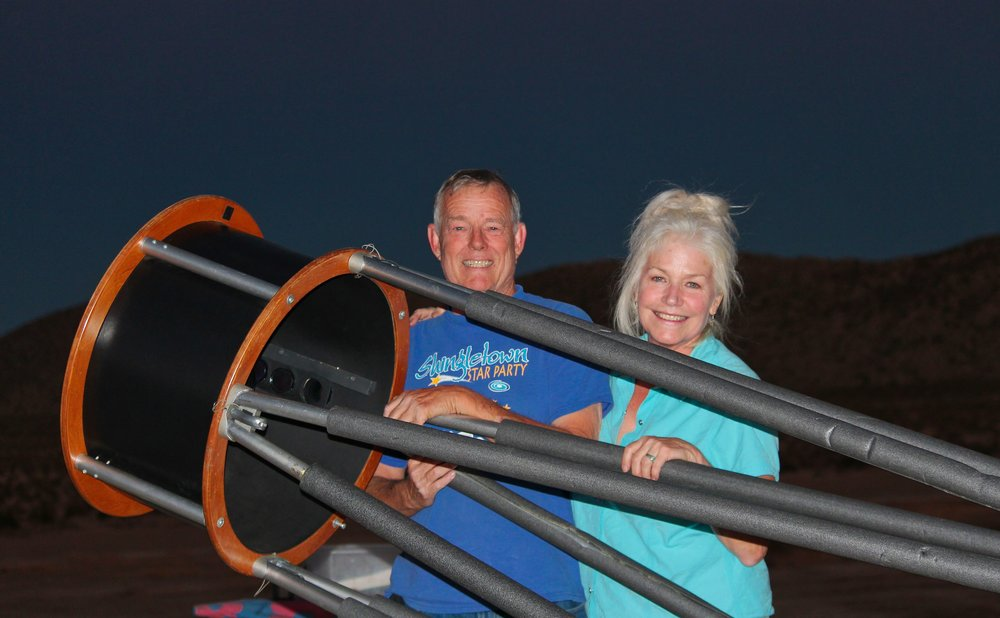 <b>PAUL ALSING & DEBBIE SEARLE</b><br>Amateur Astronomers<br>