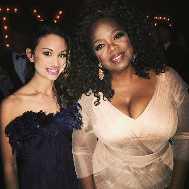 With the one and only @oprah