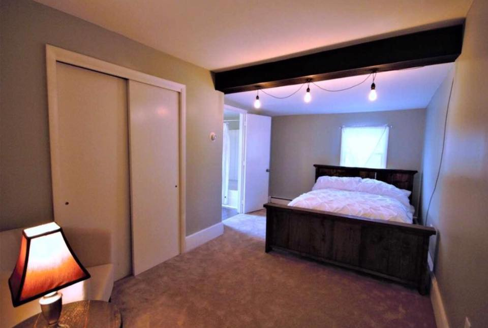Master Bedroom Renovation With Rustic Beams