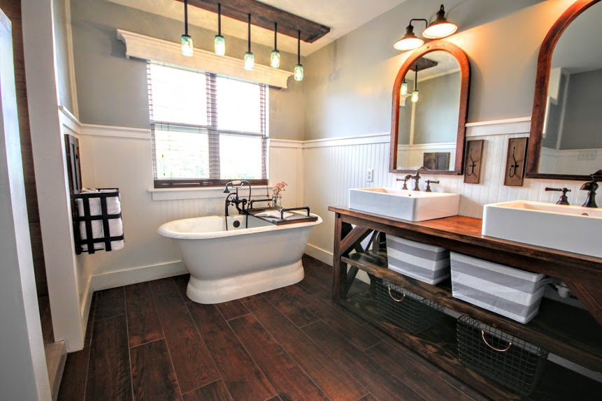 Modern Farmhouse Bathroom Renovation In Phoenixville