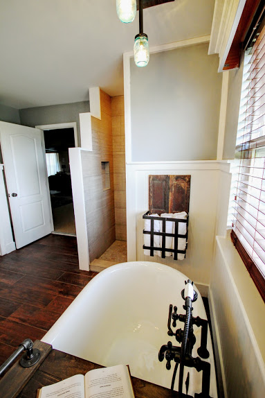Modern Farmhouse Bathroom Renovation With Walk In Shower