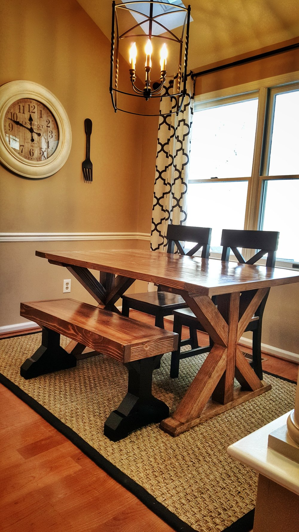 This Custom Farmhouse Table Made The Perfect Addition To This Dining Room!