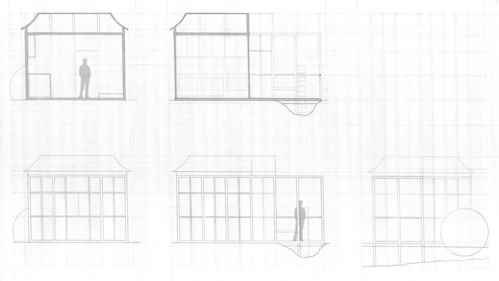 Sections and elevations || Pencil on vellum
