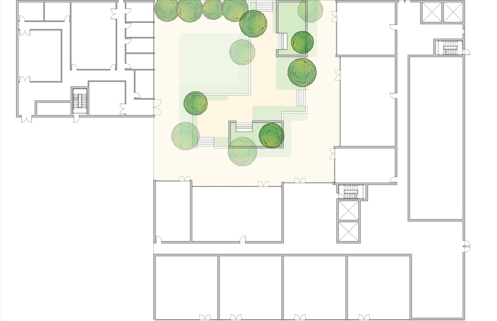 Site plan || Revit, Illustrator, Photoshop