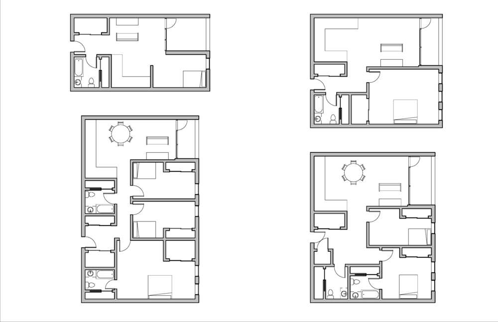 Room layouts || Revit, Photoshop