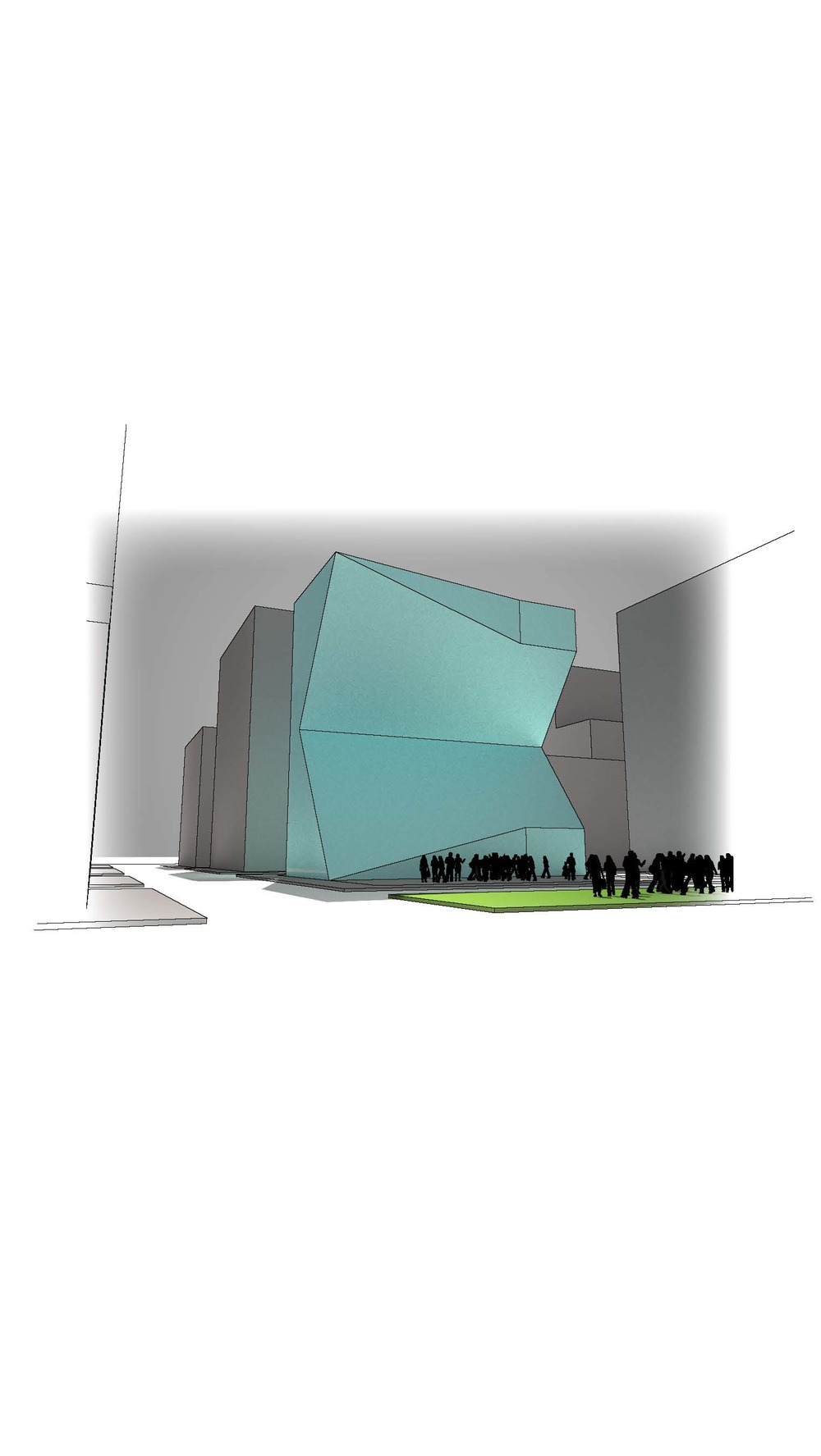 Rendered projection of mass || Sketchup, Maxwell, Illustrator