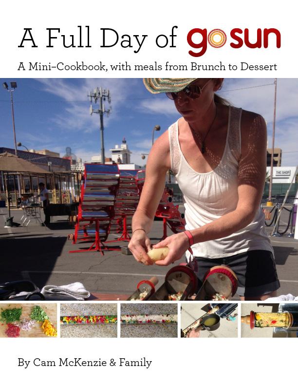 """GoSun Cookbook, cover design. 8.5"""" x 11""""."""