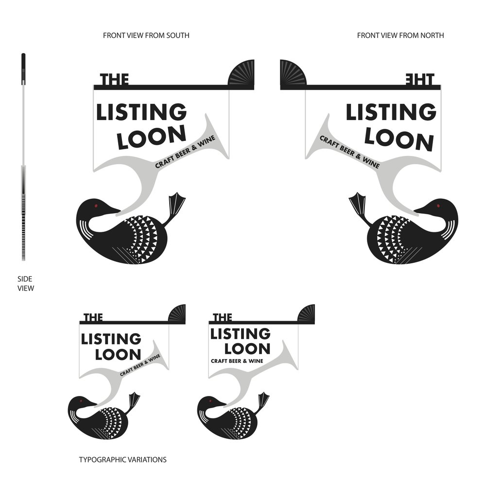 Listing Loon Sign, Northside Co-Sign Contest submission.