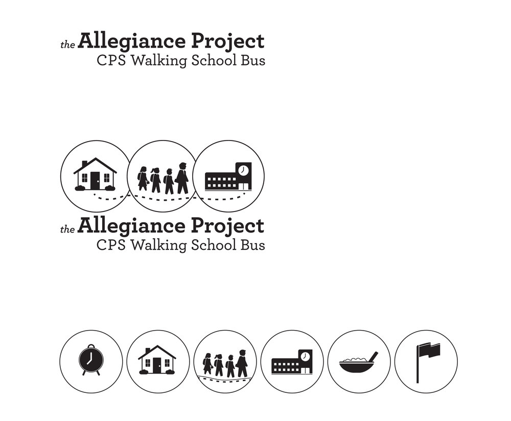 Allegiance Project Logo & Icon Set, black and white.
