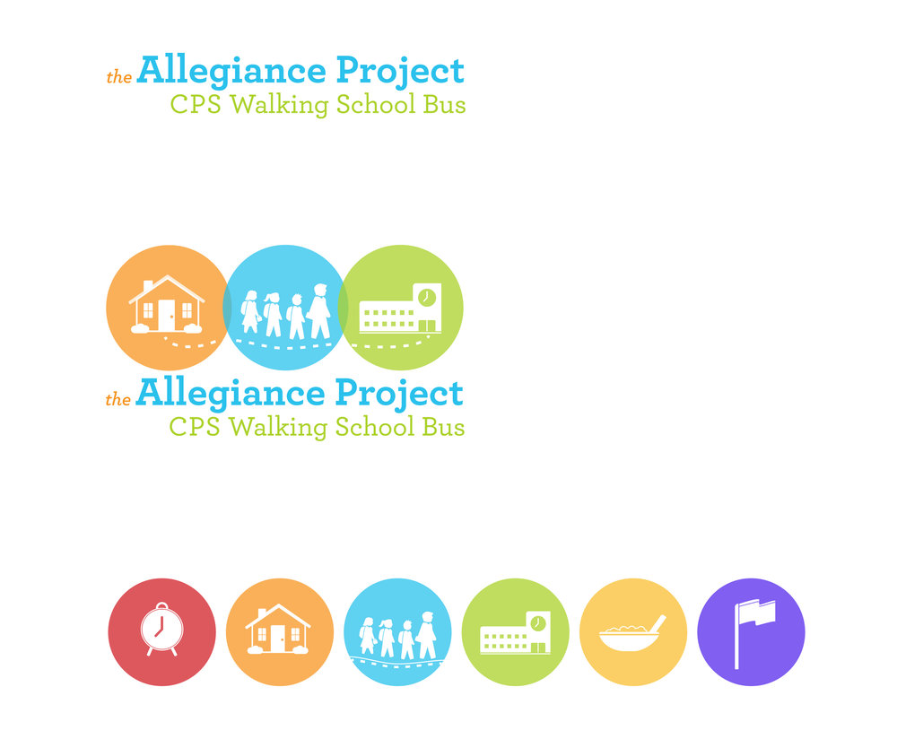 Allegiance Project Logo & Icon Set, translucent solid color.