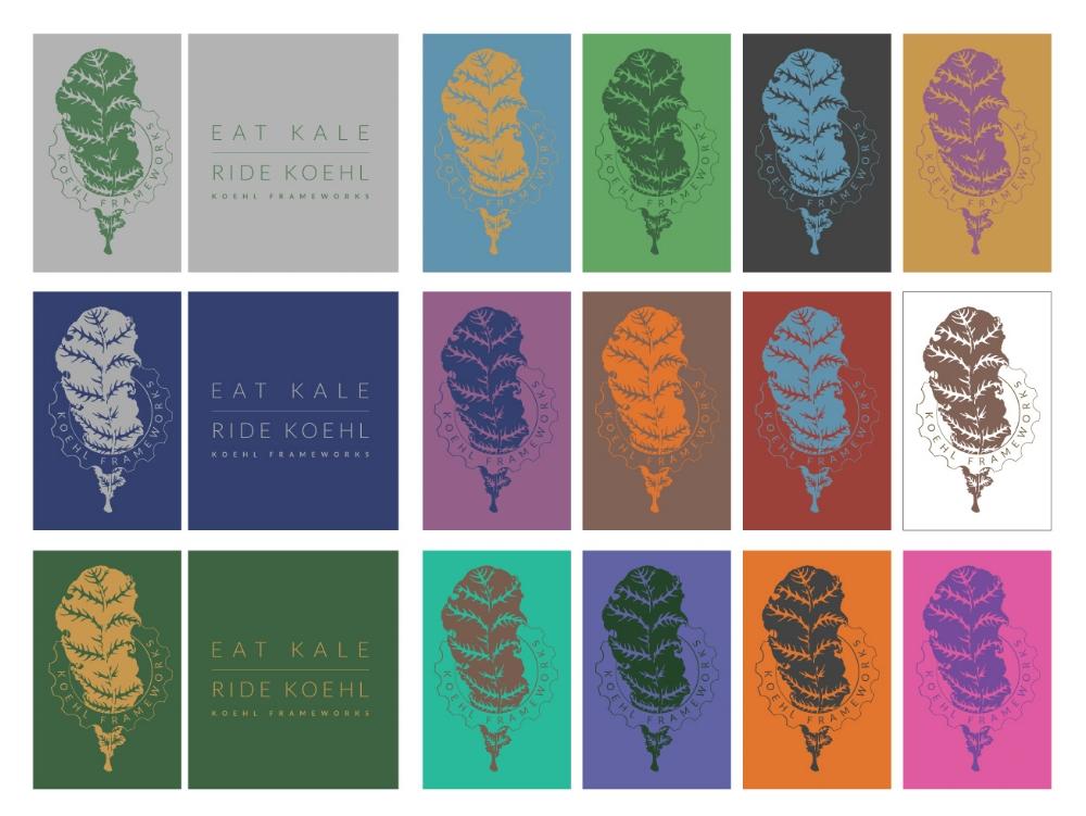 Koehl Frameworks Tee Shirt color samples.