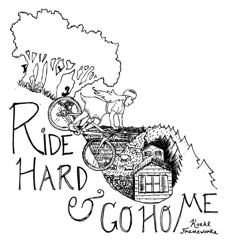Ride Hard AND Go Home . Pen & Ink Illustration.