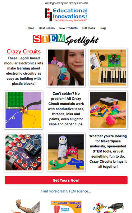 STEM Spotlight Email Send - Crazy Circuits