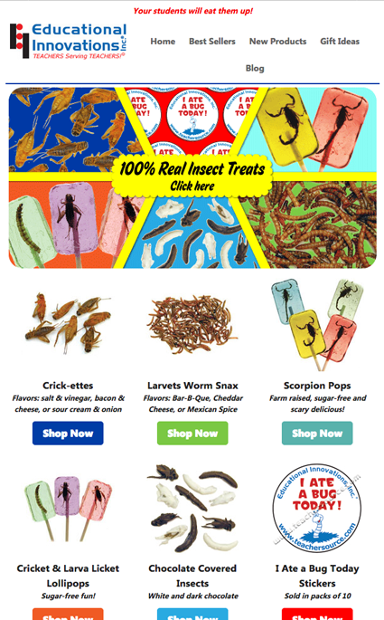 Promotional Email Send - Insect Snacks