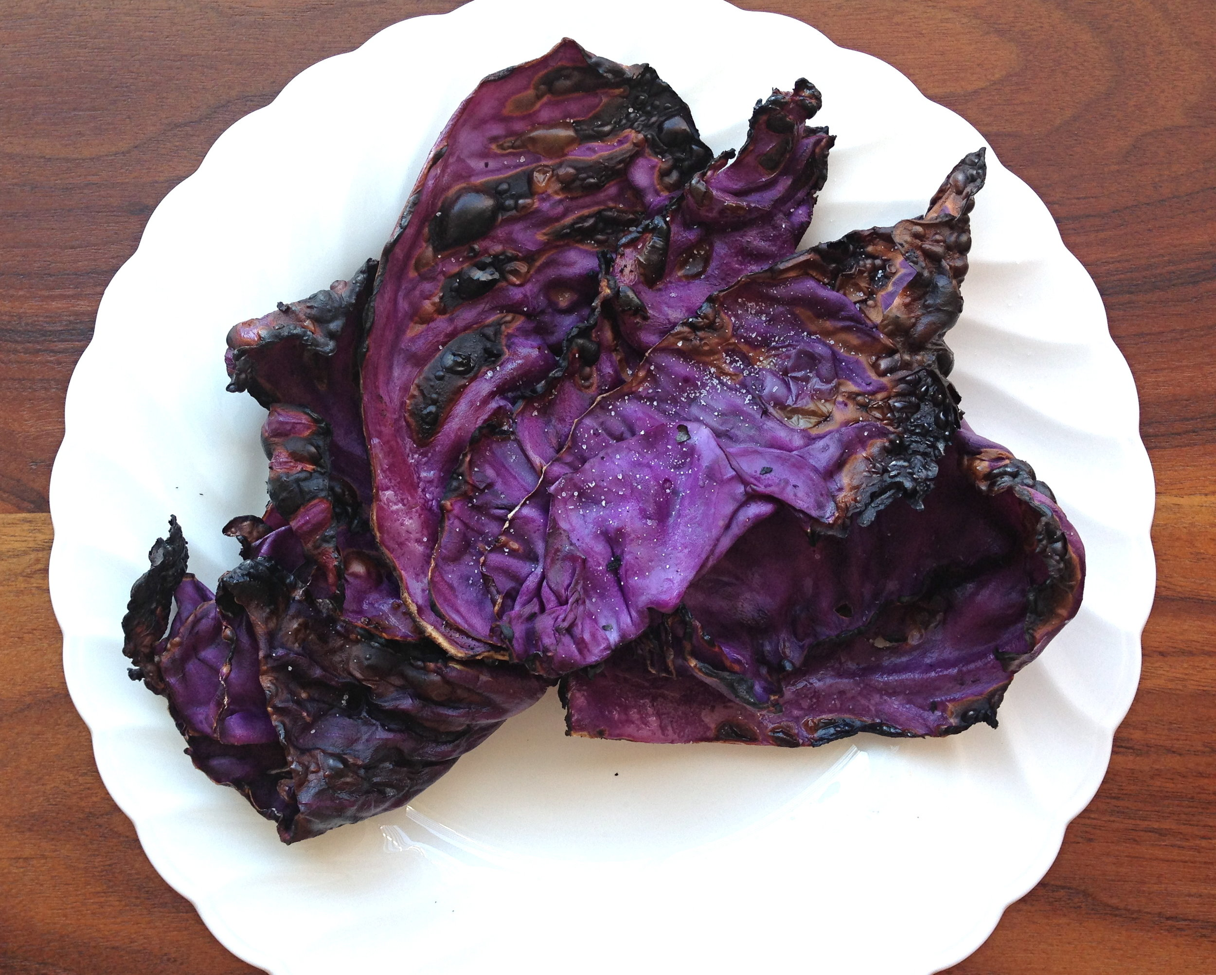Crispy, grilled, yummy cabbage.