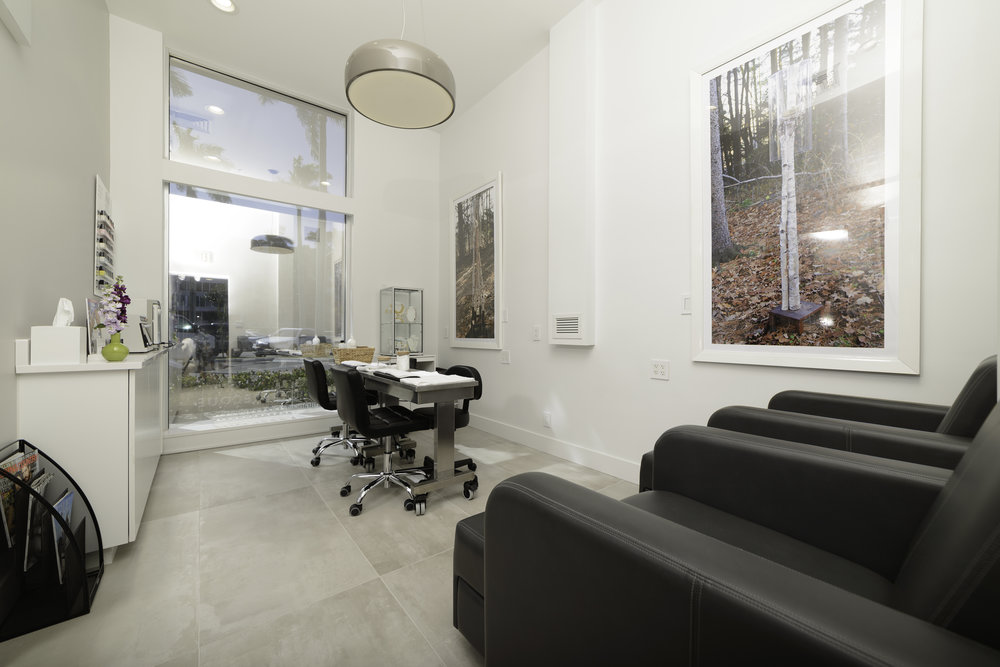 """The nail """"nook"""" within Paul Labrecque Salon + Spa."""