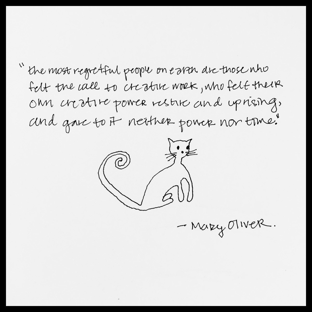 Mary Oliver Love Quotes Quotes And Cats