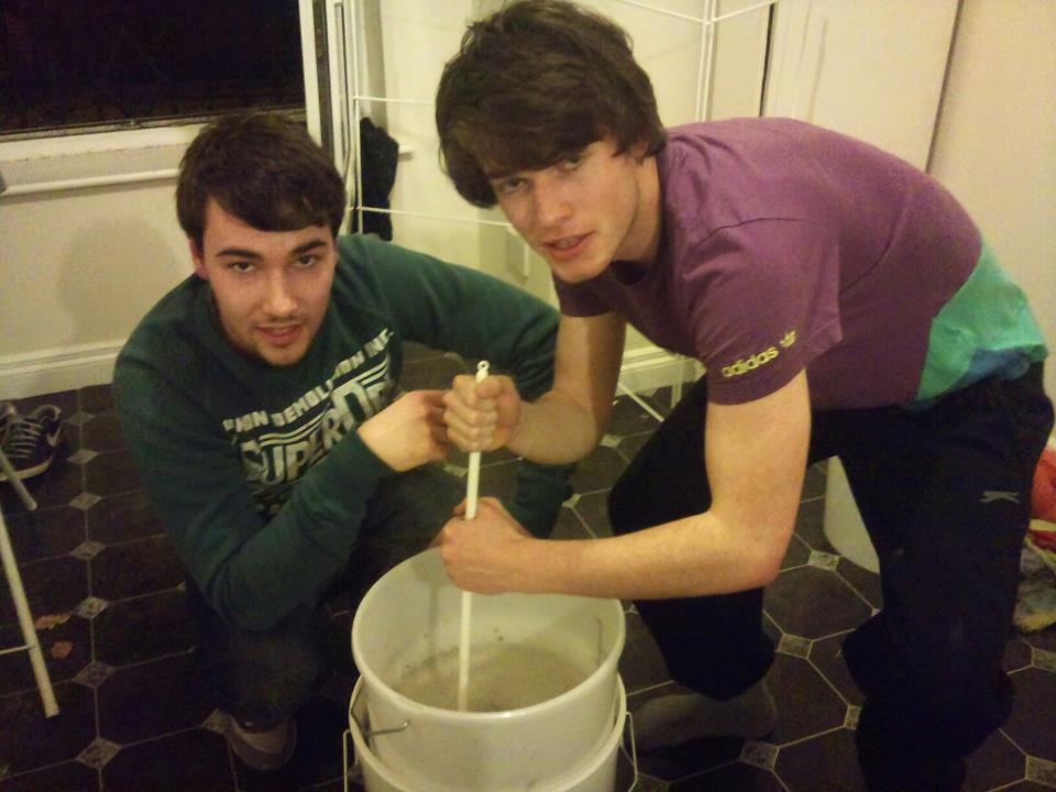 First ever home-brew, February 2012