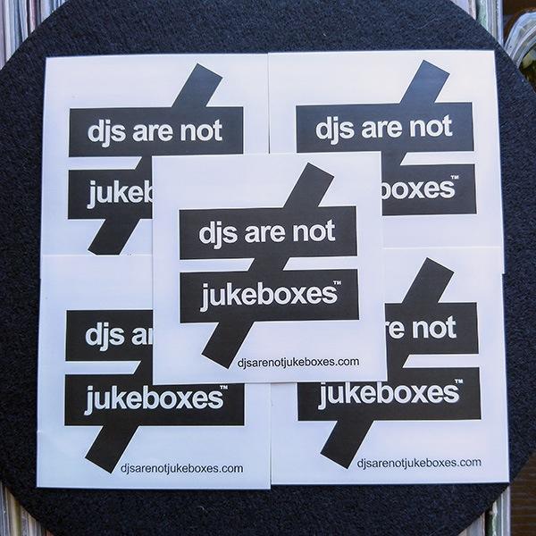 Danj Logo Stickers Djs Are Not Jukeboxes