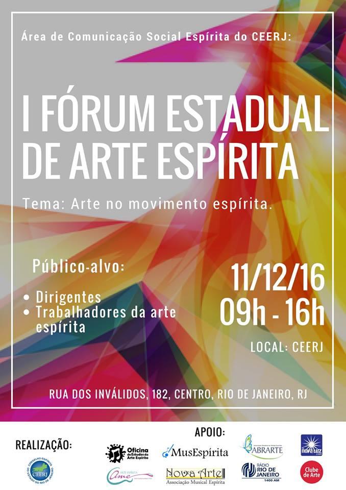 1 Forum Estadual de Arte Espírita - CEERJ