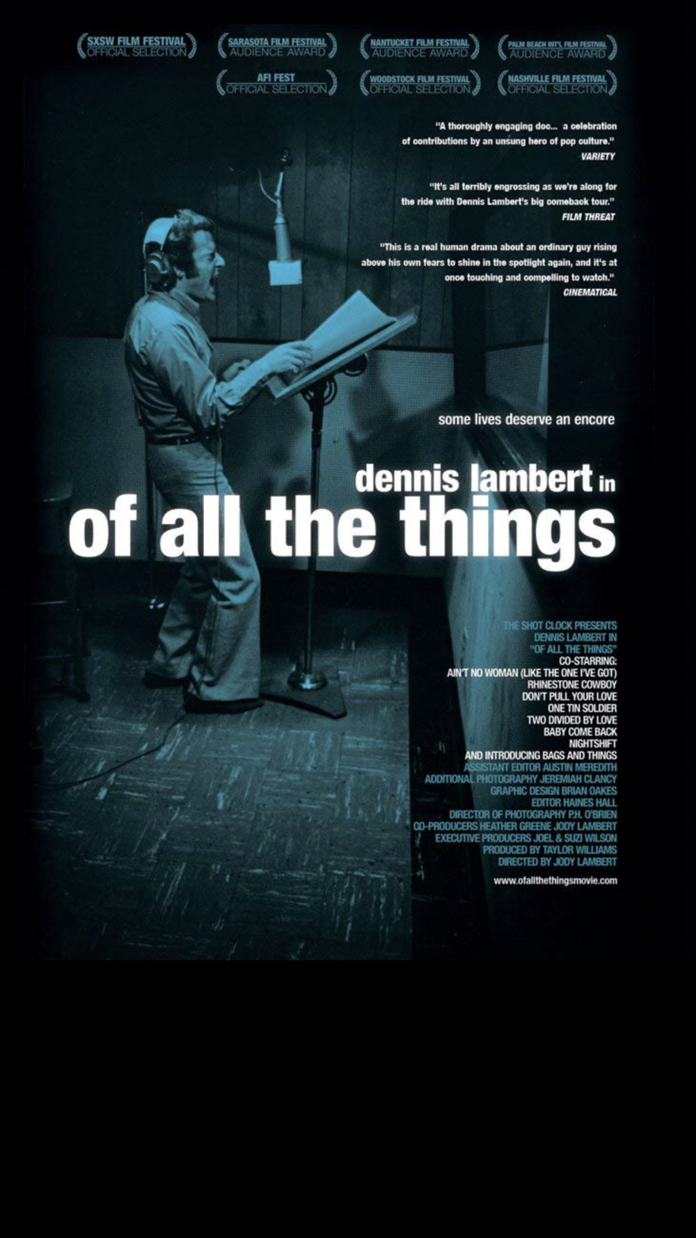 Of All The Things - 2012 (Feature Documentary) – 1h 25m Dennis Lambert was one of the most successful and diverse songwriter/producers of the '70s and '80s, with hits like