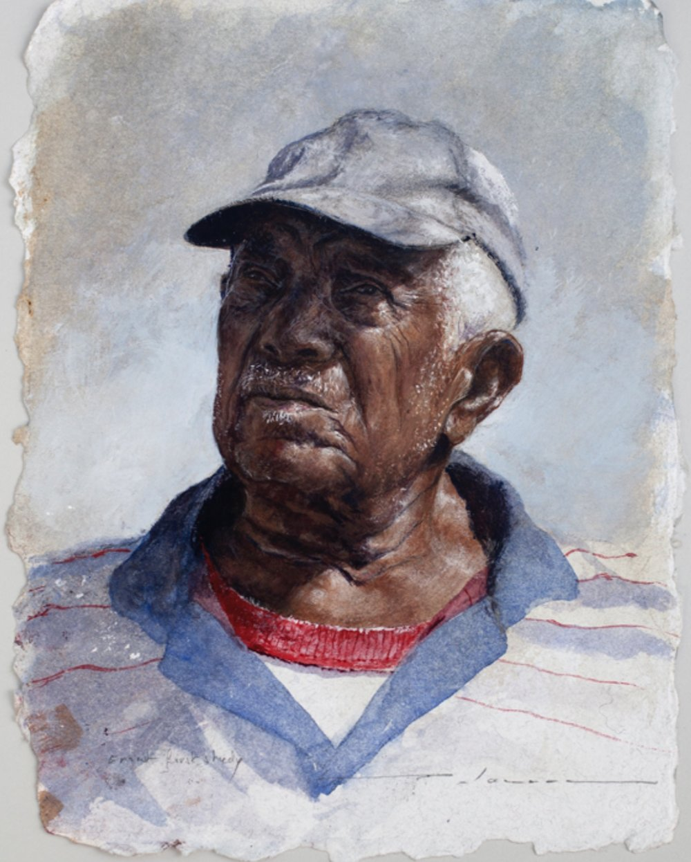 Ernest Culmer: First Study. Watercolour on paper