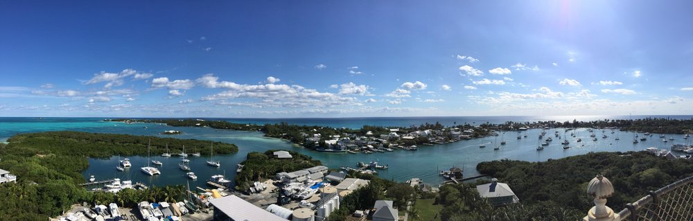 Panoramic view from the Elbow Reef Lighthouse.