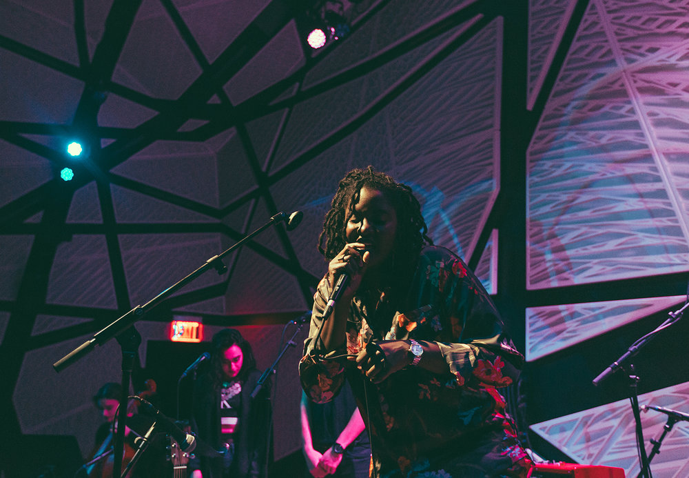 Kamilah feeling herself at the National Sawdust in Brooklyn, NY.  Photo by  Leo Mascaro