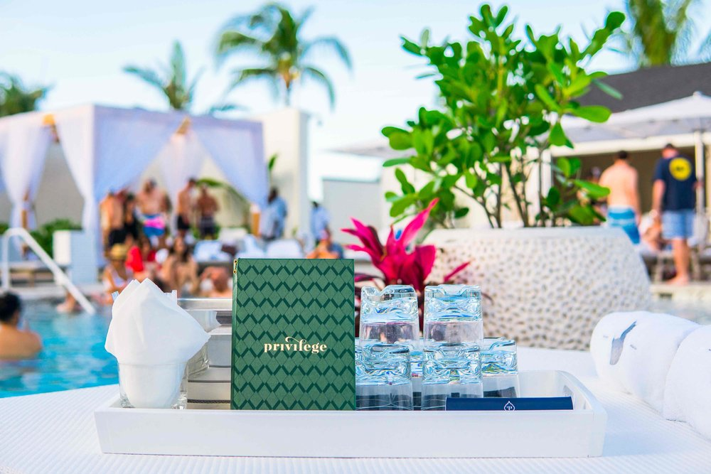 "Privilege day club at the SLS Baha Mar, which revels in an ""unabashedly cheeky, modern spirit."""