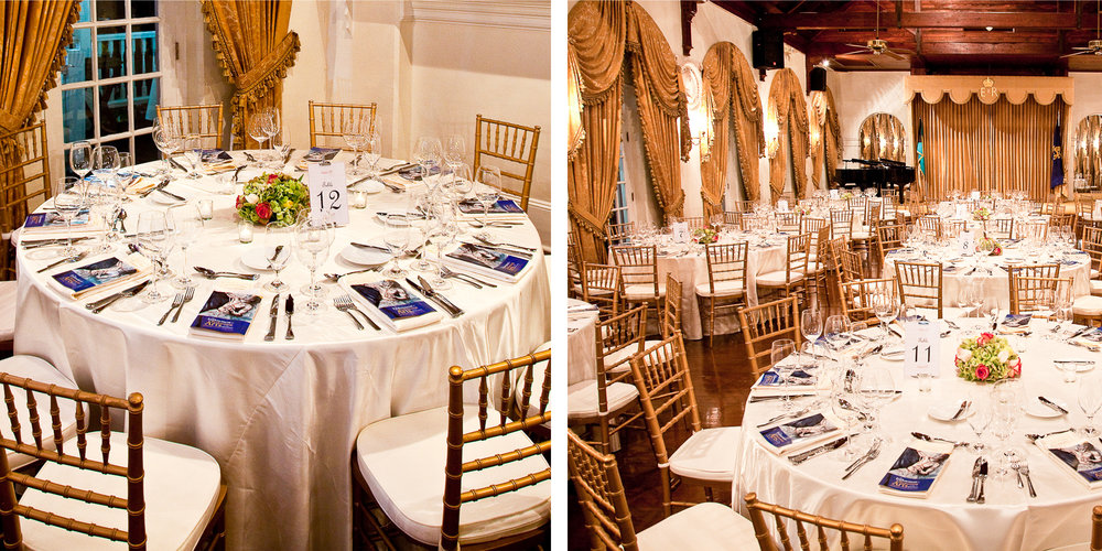 The perfect canvas for lavish affairs -the Grand Ballroom at Government House.
