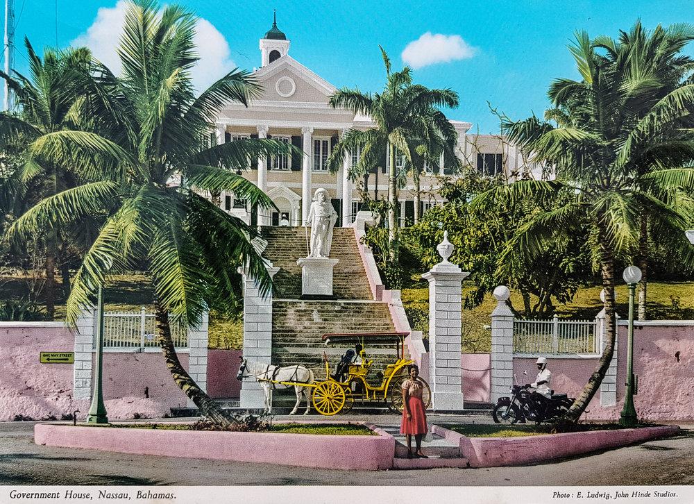 Government House, Nassau, Bahamas.Photo: E.Ludwig, John Hinde Studios.