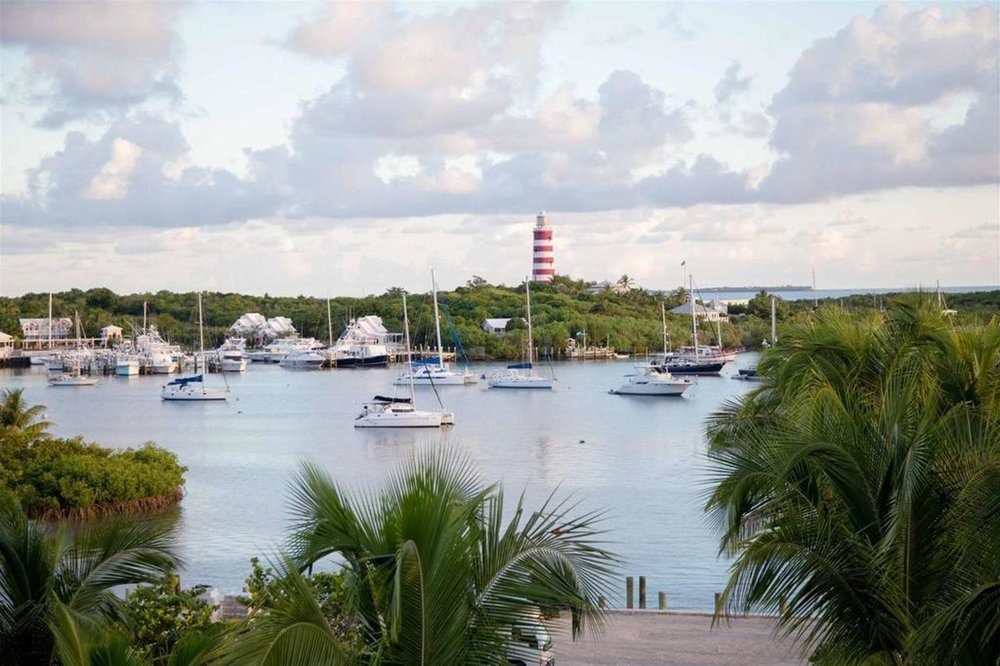 Harbourside view from Hopetown Harbour Lodge.