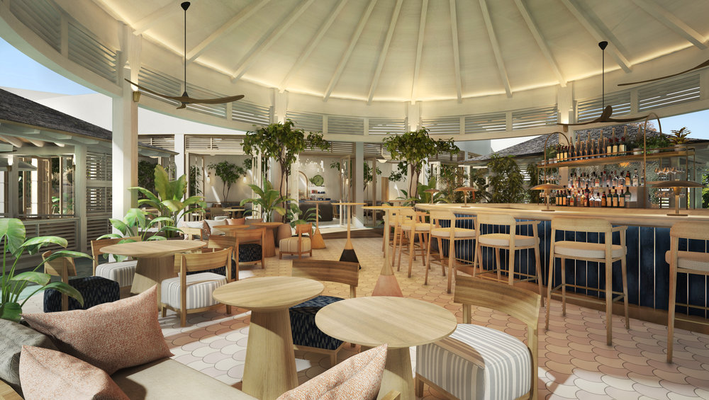 Costa's interior design is infused with Bahamian nuances.